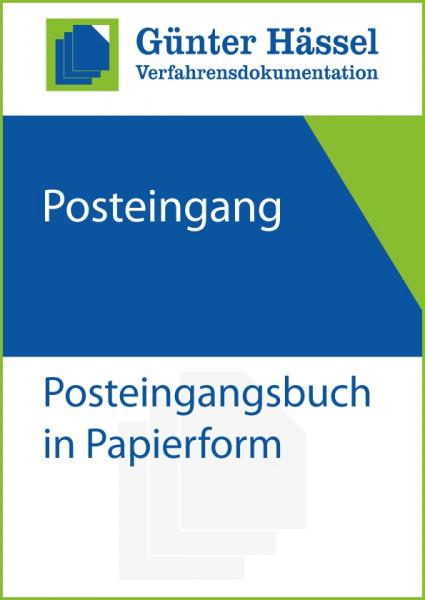 Posteingangsbuch in Papierform
