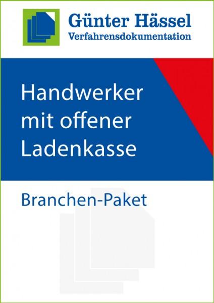 Handwerker mit offener Ladenkasse - Branchenpaket