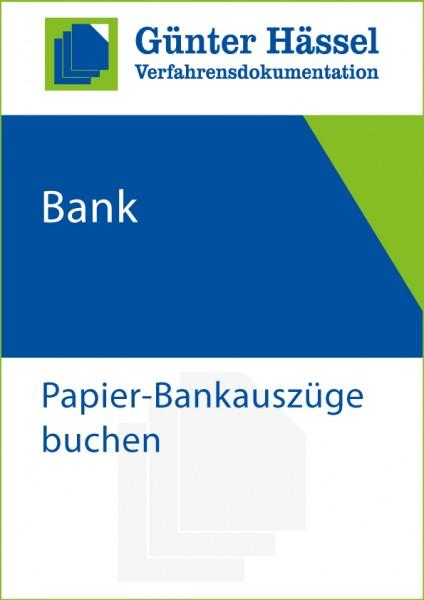 Bank-Buchen von Papier-Kontoauszügen