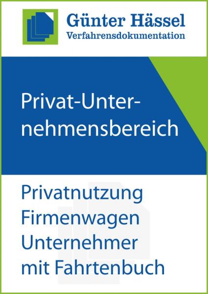 Privat-Unternehmensbereich Fahrtenbuch