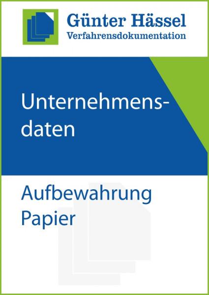 Aufbewahrung Papier