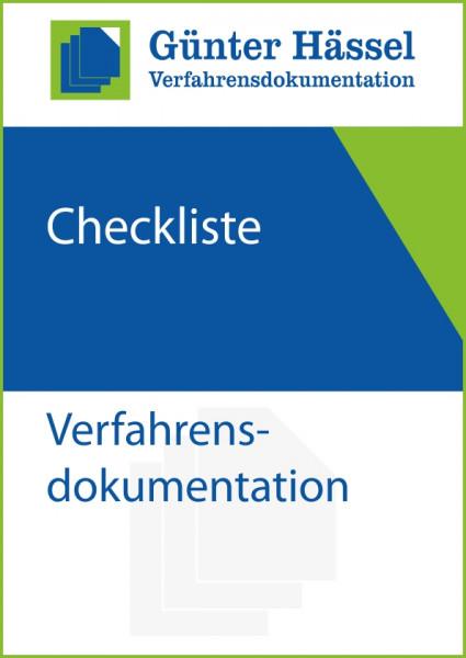 Checkliste Verfahrensdokumentation