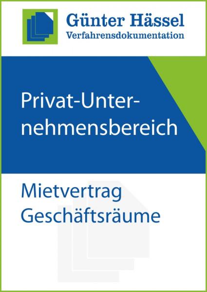 Privat-Unternehmensbereich Mietvertrag Geschäftsräume