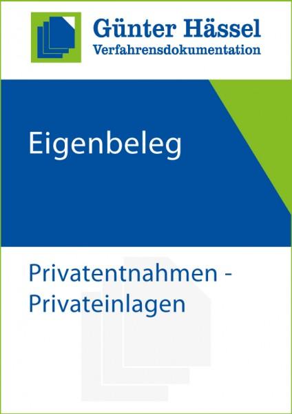 Eigenbeleg Privatentnahme/Privateinlage