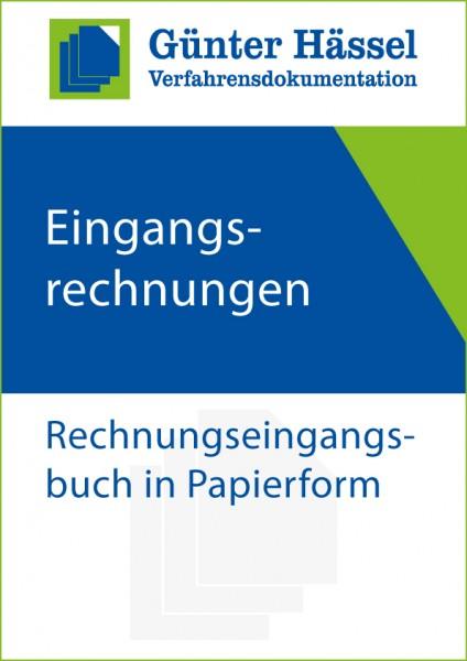 Rechnungseingangsbuch in Papierform