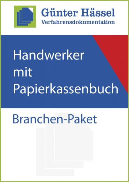 Handwerker mit Papierkassenbuch - Branchenpaket