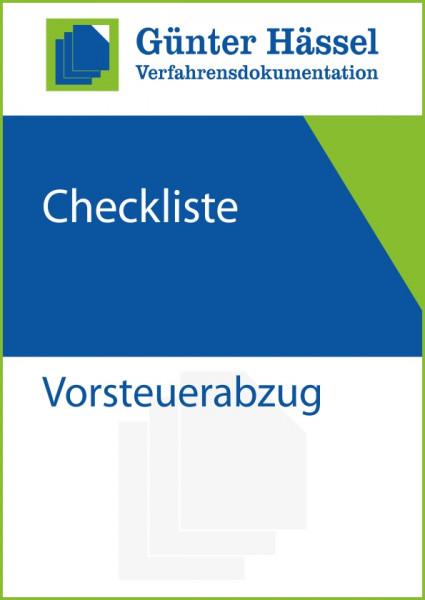 Checkliste Vorsteuerabzug